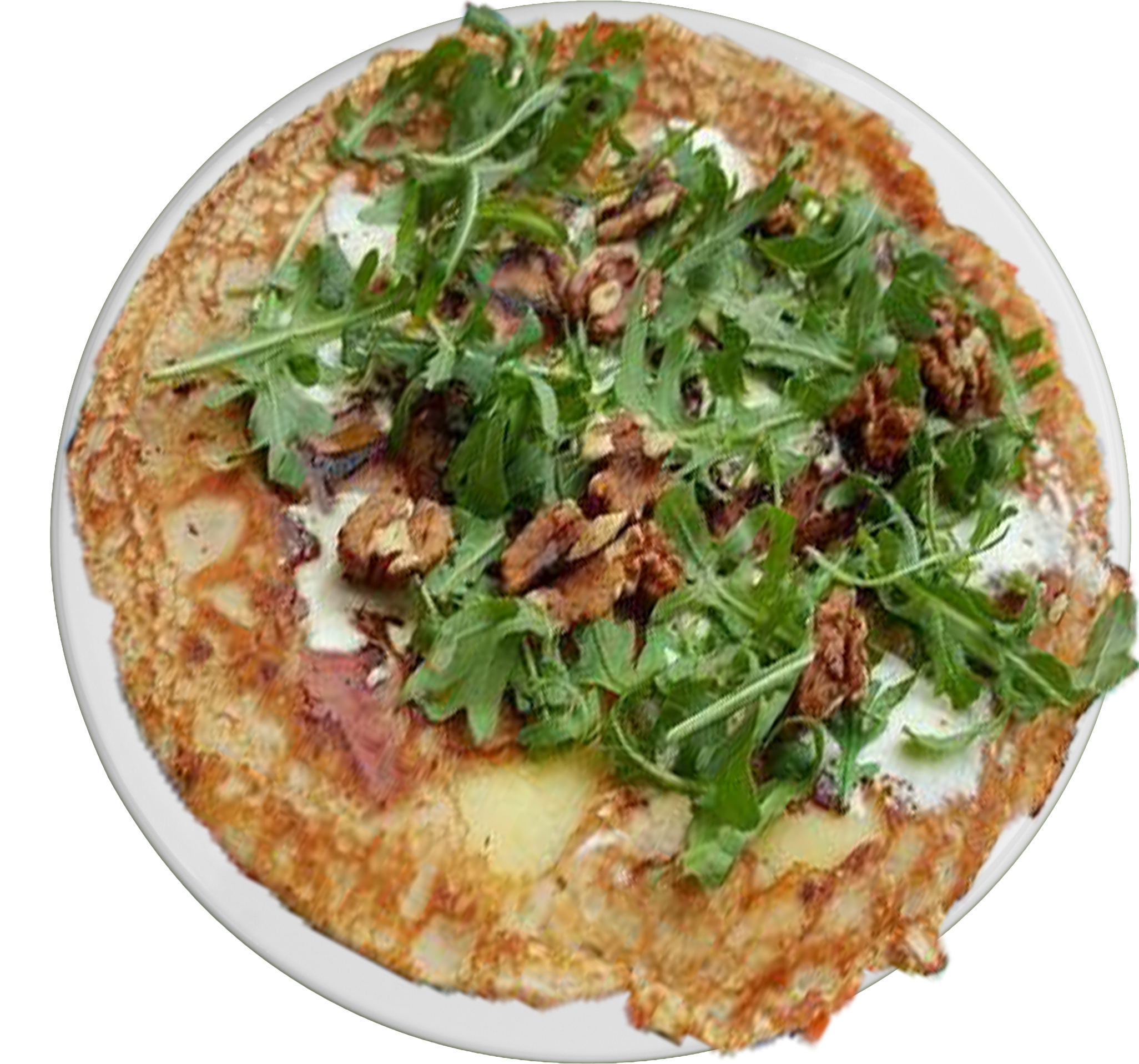Rucola walnoot pannenkoek
